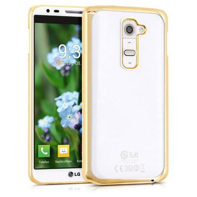 Microsonic Lg G2 Kılıf Flexi Delux Gold Cep Telefonu Kılıfı