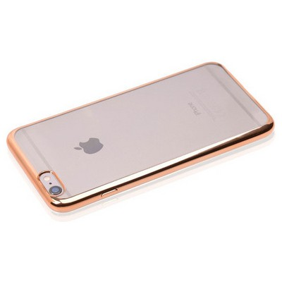 Microsonic Apple Iphone 6s Plus Kılıf Flexi Delux Gold Cep Telefonu Kılıfı