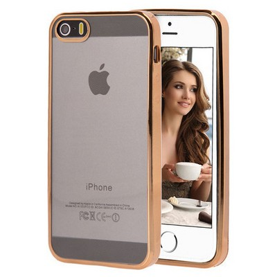 Microsonic Apple Iphone 5s Kılıf Flexi Delux Gold Cep Telefonu Kılıfı