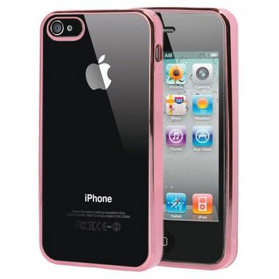 Microsonic Apple Iphone 4s Kılıf Flexi Delux Rose Cep Telefonu Kılıfı