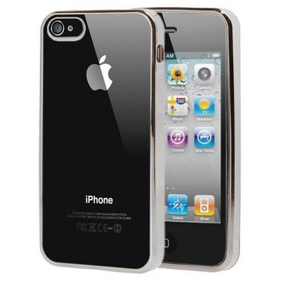 Microsonic Apple Iphone 4s Kılıf Flexi Delux Gümüş Cep Telefonu Kılıfı
