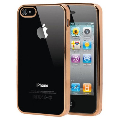 Microsonic Apple Iphone 4s Kılıf Flexi Delux Gold Cep Telefonu Kılıfı
