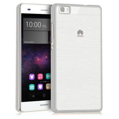 Microsonic Huawei Ascend P8 Lite Kılıf Flexi Delux Gümüş Cep Telefonu Kılıfı