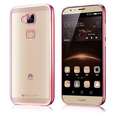 Microsonic Huawei Ascend G8 Kılıf Flexi Delux Rose Cep Telefonu Kılıfı