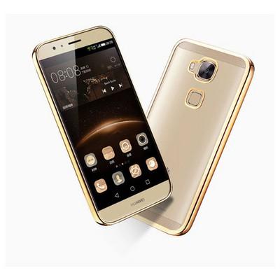 Microsonic Huawei Ascend G8 Kılıf Flexi Delux Gold Cep Telefonu Kılıfı