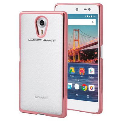Microsonic General Mobile Android One 4g Kılıf Flexi Delux Rose Cep Telefonu Kılıfı