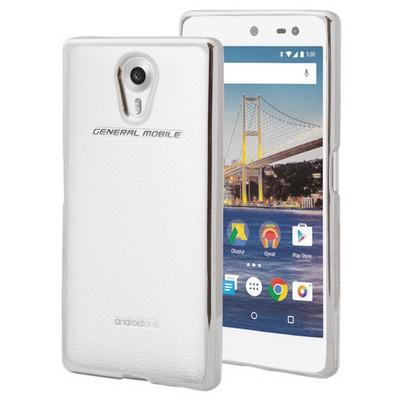 Microsonic General Mobile Android One 4g Kılıf Flexi Delux Gümüş Cep Telefonu Kılıfı