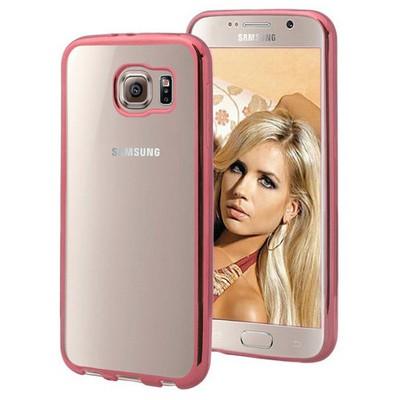 Microsonic Samsung Galaxy S6 Kılıf Flexi Delux Rose Cep Telefonu Kılıfı
