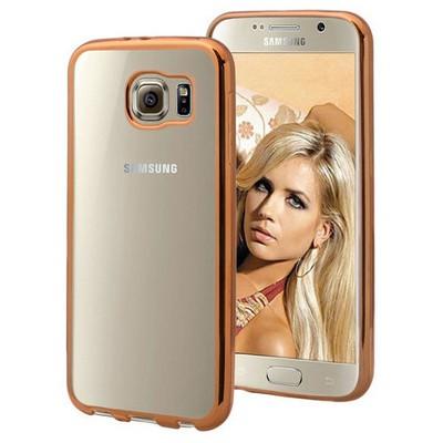 Microsonic Samsung Galaxy S6 Kılıf Flexi Delux Gold Cep Telefonu Kılıfı