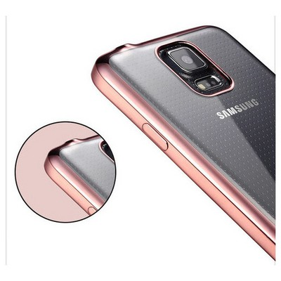 Microsonic Samsung Galaxy S5 Kılıf Flexi Delux Rose Cep Telefonu Kılıfı
