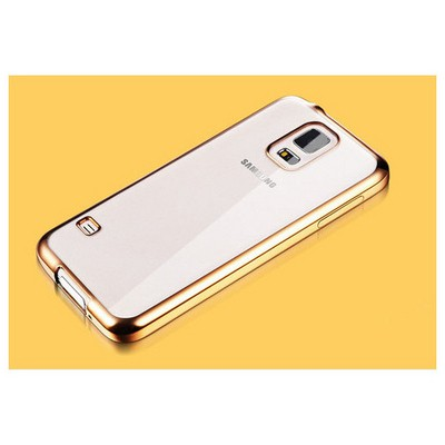 Microsonic Samsung Galaxy S5 Kılıf Flexi Delux Gold Cep Telefonu Kılıfı