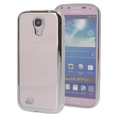 Microsonic Samsung Galaxy S4 Kılıf Flexi Delux Gümüş Cep Telefonu Kılıfı
