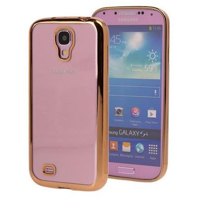 Microsonic Samsung Galaxy S4 Kılıf Flexi Delux Gold Cep Telefonu Kılıfı