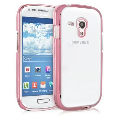 Microsonic Samsung Galaxy S3 Mini Kılıf Flexi Delux Rose Cep Telefonu Kılıfı