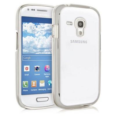 Microsonic Samsung Galaxy S3 Mini Kılıf Flexi Delux Gümüş Cep Telefonu Kılıfı