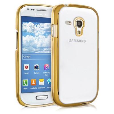 Microsonic Samsung Galaxy S3 Mini Kılıf Flexi Delux Gold Cep Telefonu Kılıfı