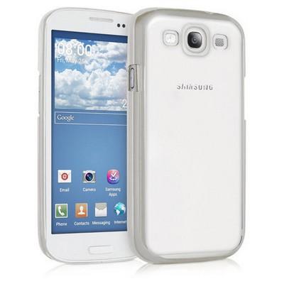Microsonic Samsung Galaxy S3 Kılıf Flexi Delux Gümüş Cep Telefonu Kılıfı