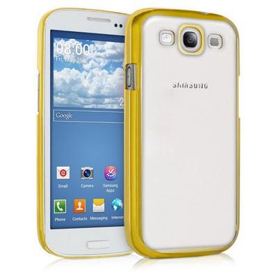 Microsonic Samsung Galaxy S3 Kılıf Flexi Delux Gold Cep Telefonu Kılıfı