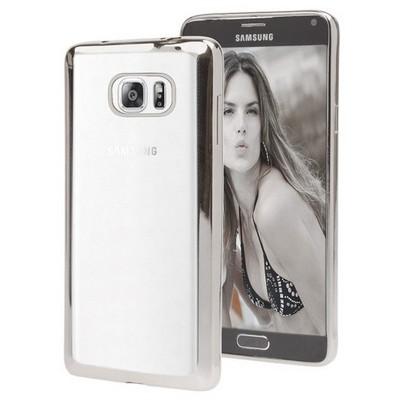 Microsonic Samsung Galaxy Note 5 Kılıf Flexi Delux Gümüş Cep Telefonu Kılıfı