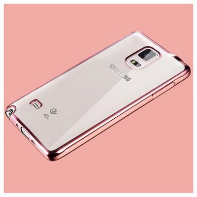 Microsonic Samsung Galaxy Note 4 Kılıf Flexi Delux Rose Cep Telefonu Kılıfı