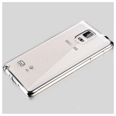 Microsonic Samsung Galaxy Note 4 Kılıf Flexi Delux Gümüş Cep Telefonu Kılıfı