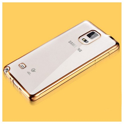 Microsonic Samsung Galaxy Note 4 Kılıf Flexi Delux Gold Cep Telefonu Kılıfı