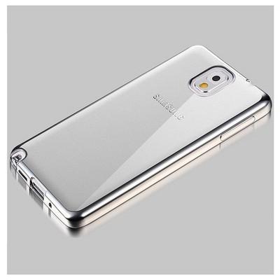 Microsonic Samsung Galaxy Note 3 Kılıf Flexi Delux Gümüş Cep Telefonu Kılıfı