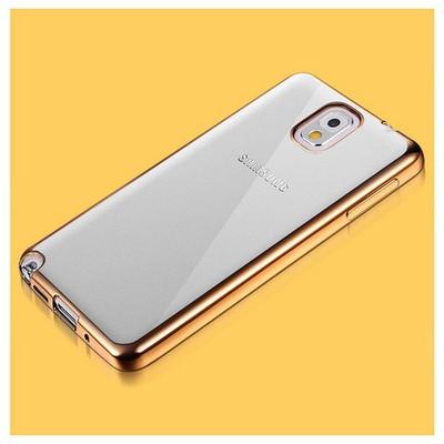 Microsonic Samsung Galaxy Note 3 Kılıf Flexi Delux Gold Cep Telefonu Kılıfı