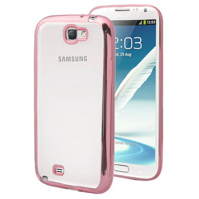 Microsonic Samsung Galaxy Note 2 Kılıf Flexi Delux Rose Cep Telefonu Kılıfı