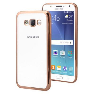 Microsonic Samsung Galaxy J7 Kılıf Flexi Delux Gold Cep Telefonu Kılıfı