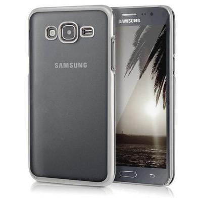Microsonic Samsung Galaxy J5 Kılıf Flexi Delux Gümüş Cep Telefonu Kılıfı