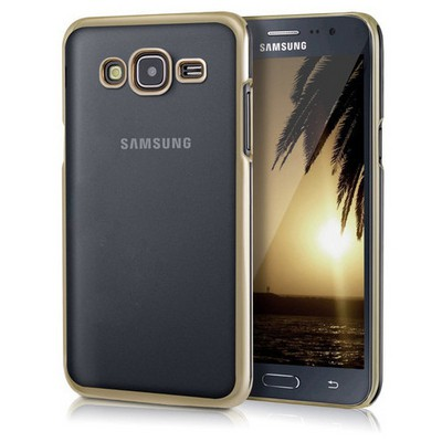 Microsonic Samsung Galaxy J5 Kılıf Flexi Delux Gold Cep Telefonu Kılıfı