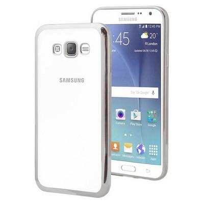 Microsonic Samsung Galaxy Grand Prime Kılıf Flexi Delux Gümüş Cep Telefonu Kılıfı