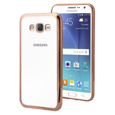 Microsonic Samsung Galaxy Grand Prime Kılıf Flexi Delux Gold Cep Telefonu Kılıfı