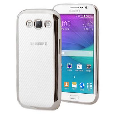 Microsonic Samsung Galaxy Grand Max Kılıf Flexi Delux Gümüş Cep Telefonu Kılıfı