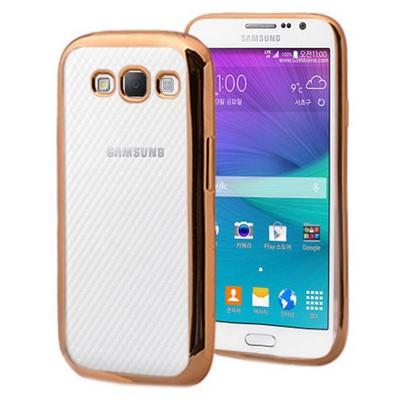 Microsonic Samsung Galaxy Grand Max Kılıf Flexi Delux Gold Cep Telefonu Kılıfı