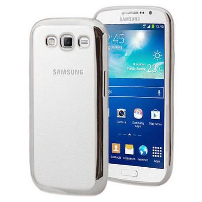 Microsonic Samsung Galaxy Grand 2 Kılıf Flexi Delux Gümüş Cep Telefonu Kılıfı