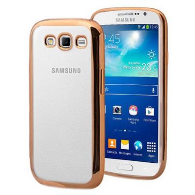 Microsonic Samsung Galaxy Grand 2 Kılıf Flexi Delux Gold Cep Telefonu Kılıfı