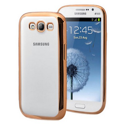 Microsonic Samsung Galaxy Grand I9082 Kılıf Flexi Delux Gold Cep Telefonu Kılıfı