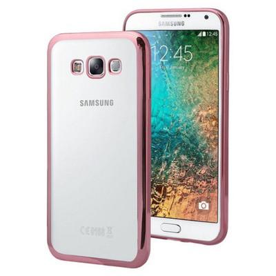 Microsonic Samsung Galaxy E5 Kılıf Flexi Delux Rose Cep Telefonu Kılıfı