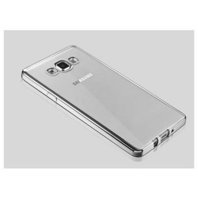 Microsonic Samsung Galaxy A7 Kılıf Flexi Delux Gümüş Cep Telefonu Kılıfı