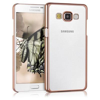 Microsonic Samsung Galaxy A7 Kılıf Flexi Delux Gold Cep Telefonu Kılıfı
