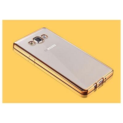 Microsonic Samsung Galaxy A5 Kılıf Flexi Delux Gold Cep Telefonu Kılıfı