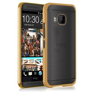 Microsonic Htc One M9 Kılıf Flexi Delux Gold Cep Telefonu Kılıfı
