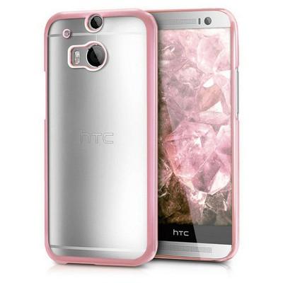 Microsonic Htc One M8 Kılıf Flexi Delux Rose Cep Telefonu Kılıfı