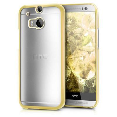 Microsonic Htc One M8 Kılıf Flexi Delux Gold Cep Telefonu Kılıfı