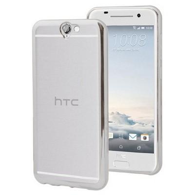 Microsonic Htc One A9 Kılıf Flexi Delux Gümüş Cep Telefonu Kılıfı