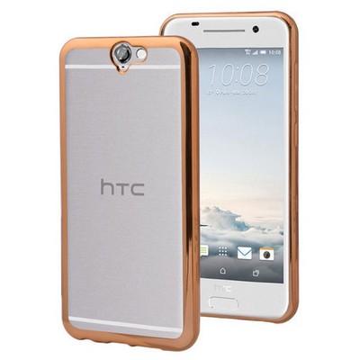Microsonic Htc One A9 Kılıf Flexi Delux Gold Cep Telefonu Kılıfı