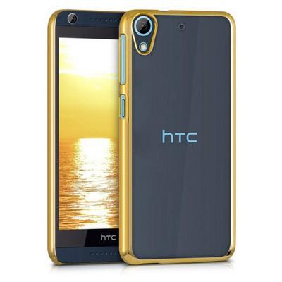 Microsonic Htc Desire 626 Kılıf Flexi Delux Gold Cep Telefonu Kılıfı