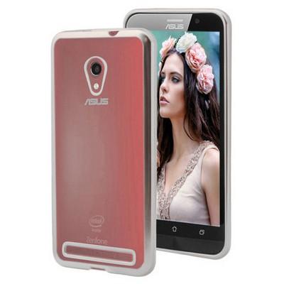 Microsonic Asus Zenfone 6 Kılıf Flexi Delux Gümüş Cep Telefonu Kılıfı